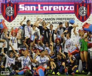 Puzle CA San Lorenzo de Almagro, mistr Torneo Inicial 2013, Argentina