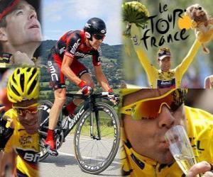 Puzle Cadel Evans 2011 Tour de France vítěz