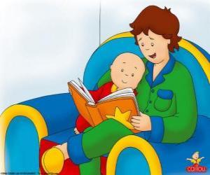 Puzle Caillou čte knihu s jeho otcem
