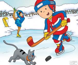 Puzle Caillou a Gilbert, hokej