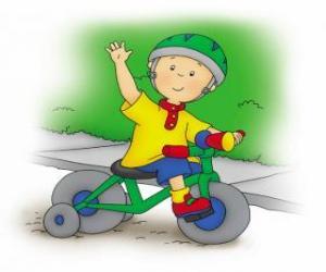 Puzle Caillou, jízda na kole