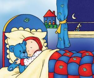 Puzle Caillou spí