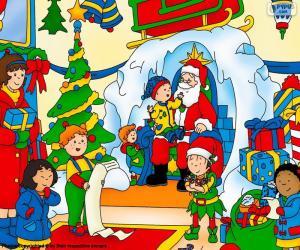 Puzle Caillou Vánoce