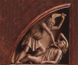 Puzle Cain, prvorozeného Adama a Evy, v době zabití jeho bratra Ábela