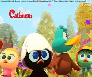Puzle Calimero s přáteli