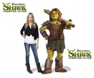 Puzle Cameron Diaz poskytuje hlas Fiona, bojovník, v poslední film Shrek Forever Po