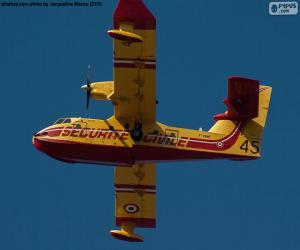 Puzle Canadair CL-215, hydroplán