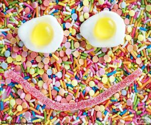 Puzle Candy obličej