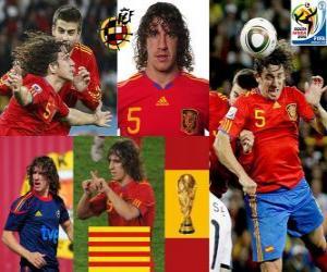Puzle Carles Puyol (hlava Španělsko) španělského týmu obhajoby