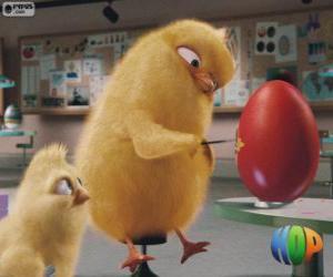 Puzle Carlos a Phil malovat vajíčka