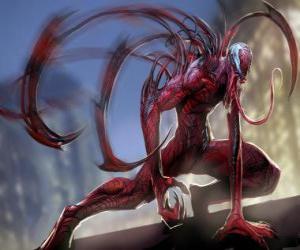 Puzle Carnage je symbiotický supervillain, protivník Spider-Man a úhlavní nepřítel z Venom