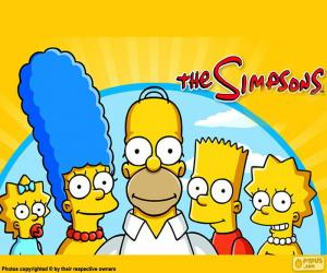Puzle Celá rodina Simpson