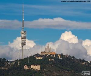Puzle Celkový pohled na Tibidabo, Barcelona