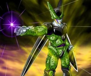 Puzle Cell, konečné vytvoření Gero doktora. Umělá forma života vytvořené pomocí buněk z Goku a jiné znaky