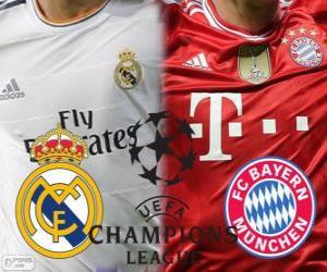 Puzle Champions League - Liga mistrů UEFA semifinále 2013-14, Real Madrid - Bayern