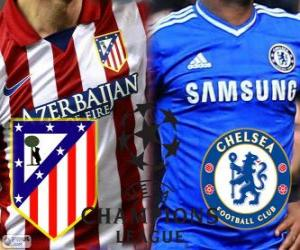 Puzle Champions League - Liga mistrů UEFA semifinále 2013-14, Atlético - Chelsea