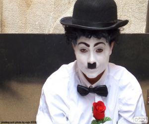 Puzle Charlie Chaplin imitátor