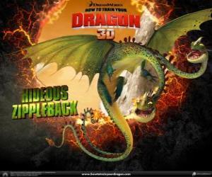 Puzle Chavný Zipák, se dvěma hlavami, je největší drak a jedním z nejnebezpečnějších