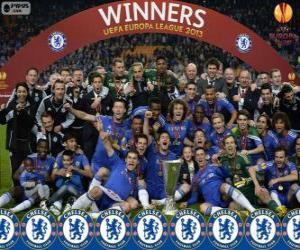 Puzle Chelsea FC, mistr UEFA Evropy liga 2012-2013