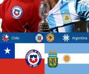 Puzle CHI - ARG, finálový Copa America 2015
