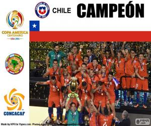 Puzle Chile, mistrem Copa America 2016