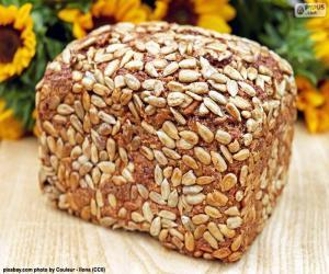Puzle Chléb slunečnicový semínka