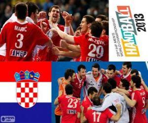 Puzle Chorvatsko, bronzové medaile na Mistrovství světa v házené 2013