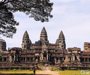 Puzle Chrám Angkor Vat, Kambodža