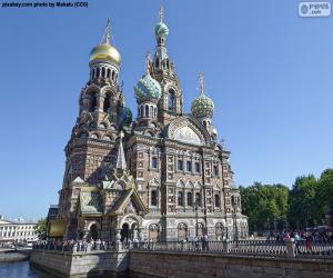 Puzle Chrám Kristova vzkříšení, Rusko