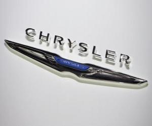 Puzle Chrysler logo. Značku automobilu z Spojené státy americké