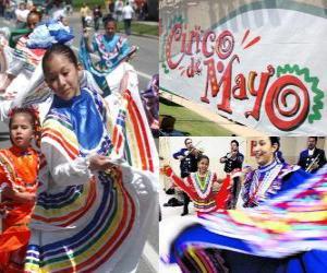 Puzle Cinco de Mayo se slaví 5. května v Mexiku a ve Spojených státech na památku 1862 Bitva Puebla