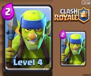 Puzle Clash Royale Goblini kopiníků