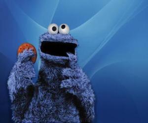 Puzle Cookie Monster jíst cookie