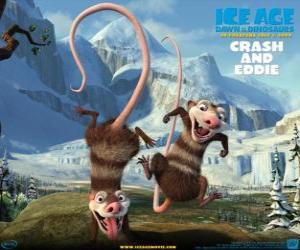 Puzle Crash a Eddie, dvě vačice problematické