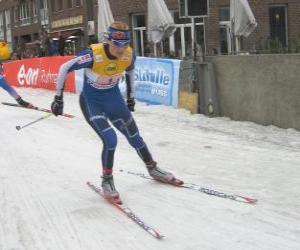 Puzle Cross-country lyžař