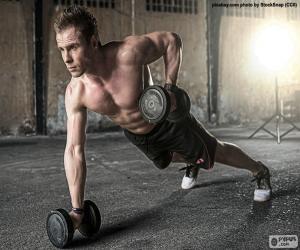 Puzle CrossFit s váhami