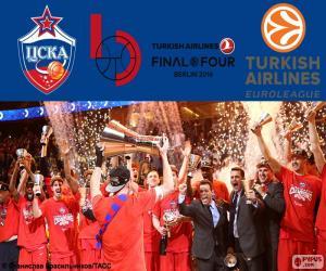 Puzle CSKA Moskva, vítěz Euroligy 2016