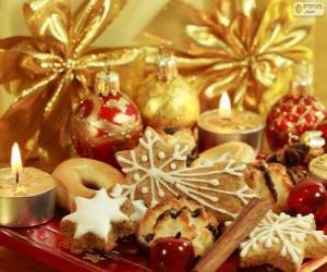 Puzle Cukroví na Vánoce
