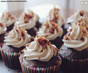 Puzle Cupcake s polevou
