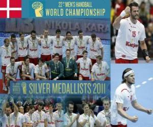 Puzle Dánsko stříbrnou medaili v roce 2011 světa v házené