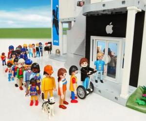 Puzle Dílny Apple Playmobil