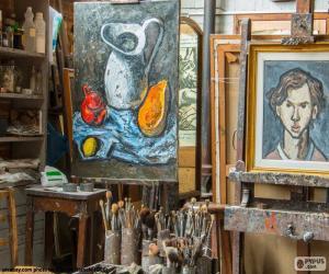 Puzle Dílny malíře