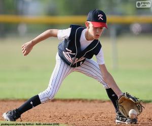 Puzle Dítě hraje baseball