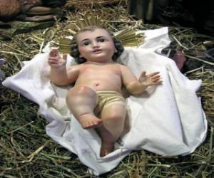 Puzle Dítě Ježíš v jeslích