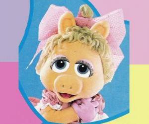 Puzle Dítě Piggy, baby Muppet Miss Piggy