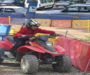 Puzle Dívka řízení quad