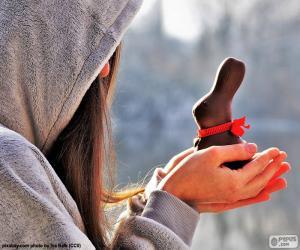 Puzle Dívka a Velikonoční zajíček