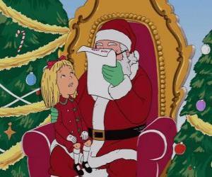 Puzle Dívka mluví s Santa Claus