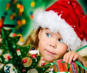 Puzle Dívka přípravy vánočních svátků