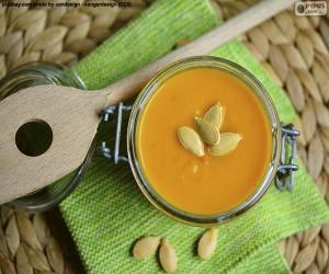 Puzle Dýňová polévka